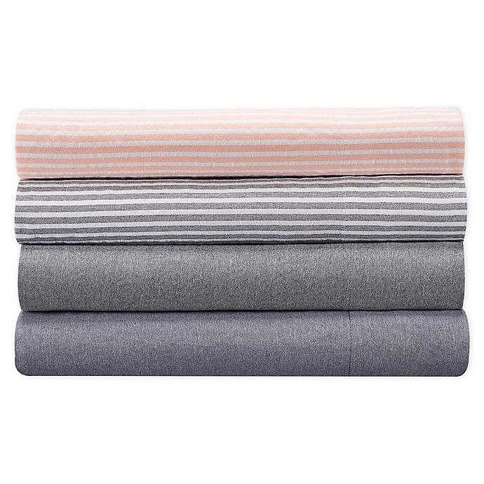 Alternate image 1 for UGG® Devon 200-Thread-Count Striped Twin XL Sheet Set in Sunset