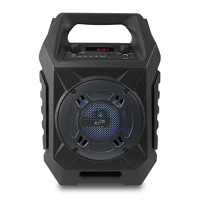 Alternate image 1 for iLive™ Tailgate Wireless Portable Bluetooth® Indoor/Outdoor Speaker in Black