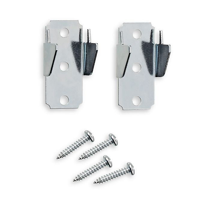Alternate image 1 for Springs Window Fashions Replacement Double Curtain Rod Brackets (2 per set)