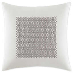 Vera Wang™ Silver Birch White Fretwork Square Pillow