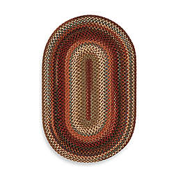 Capel Portland Braided Oval 2' x 3' Accent Rug in Brown
