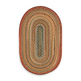 Capel Portland Oval Indoor Braided Rug - Gold