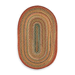 Capel Portland Braided 1'8 x 2'6 Oval Rug in Gold