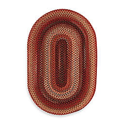 Capel Rugs Portland 2' x 3' Handcrafted Braided Accent Rug in Red