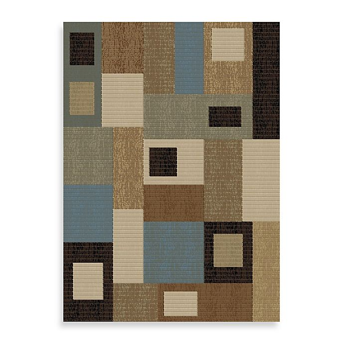 Alternate image 1 for Concord Global Rectangles Blue 7-Foot 10-Inch x 10-Foot 10-Inch Rug