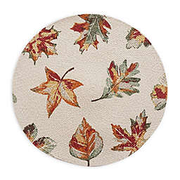 Autumn Romance Braided Round Placemat