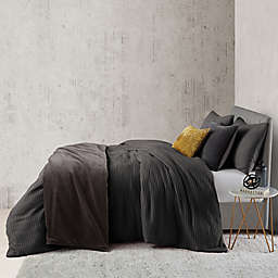 O&O by Olivia & Oliver™ Waffle 2-Piece Twin Duvet Cover Set in Charcoal