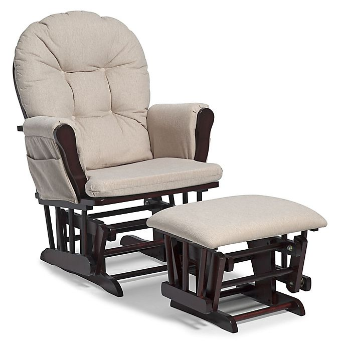 Alternate image 1 for Storkcraft™ Hoop Glider and Ottoman Set in Cherry/Beige