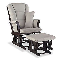 Storkcraft Tuscany Glider and Ottoman Set in Espresso/Taupe