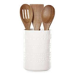 kate spade new york Willow Drive Cream™ 4-Piece Utensil Holder and Tool Set