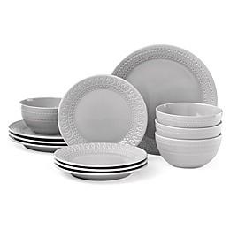 kate spade new york Willow Drive Grey™ 12-Piece Dinnerware Set