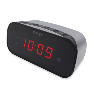 Timex Alarm Clock With 0 7 Inch Red