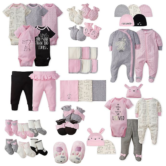 Alternate image 1 for Gerber® Girl's Bunny Layette Collection