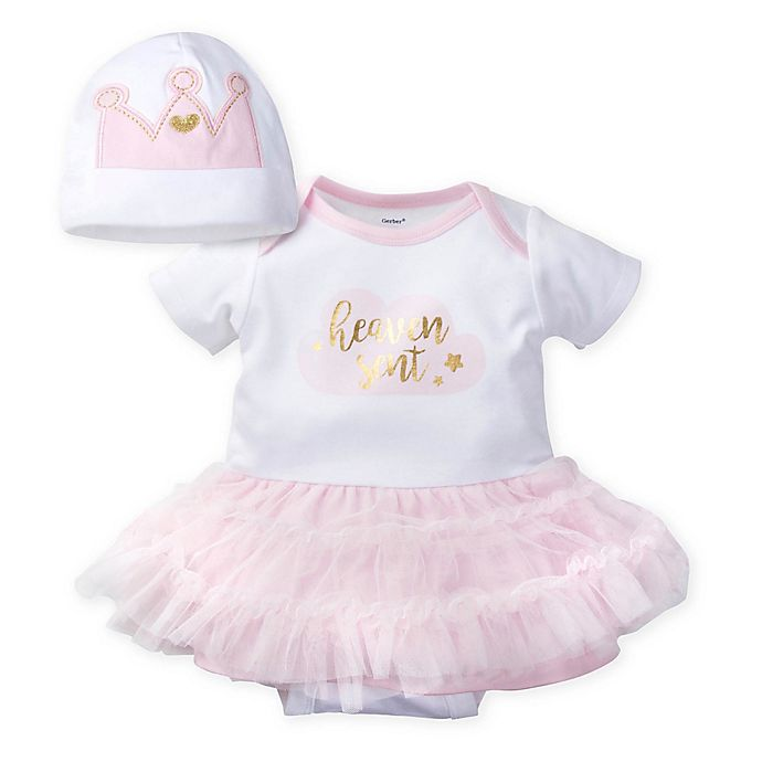 87e676f83 Gerber® 2-Piece Bodysuit and Tutu Set in Pink/Coral   buybuy BABY