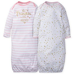 Gerber® 2-Pack Princess Gowns in Pink