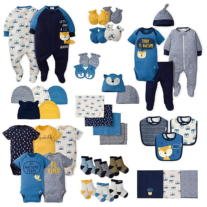Alternate image 1 for Gerber® Boy's Fox Layette Collection