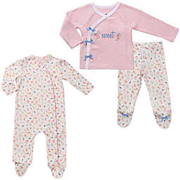 asher and olivia® 3-Piece Twins Footed Pajama Set