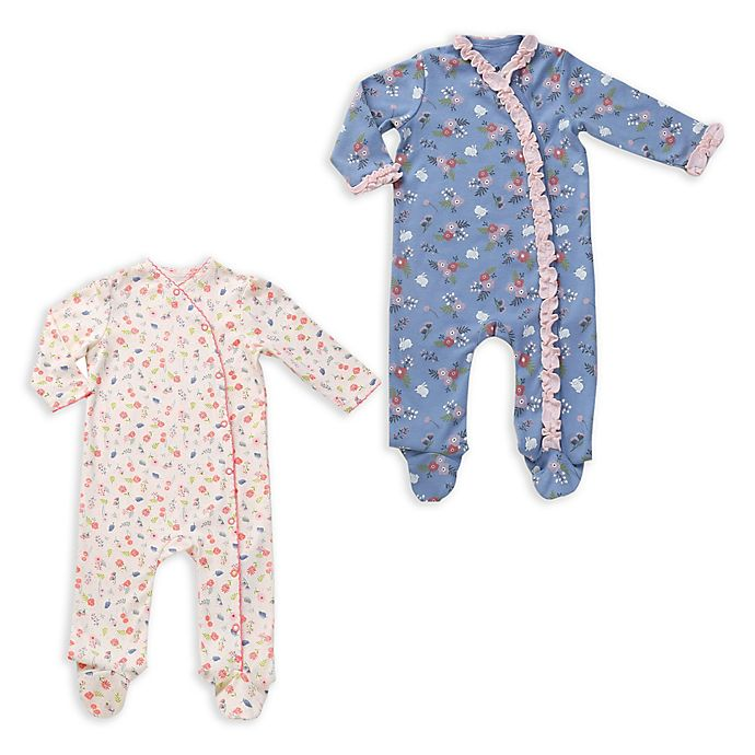 Alternate image 1 for asher and olivia® 2-Pack Floral Kimono Coveralls