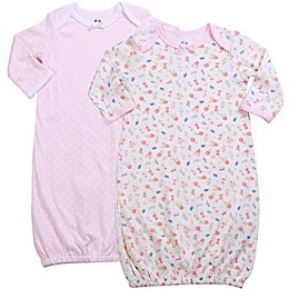 asher and olivia® Size 0-12M 2-Pack Sleep Gowns in Pink