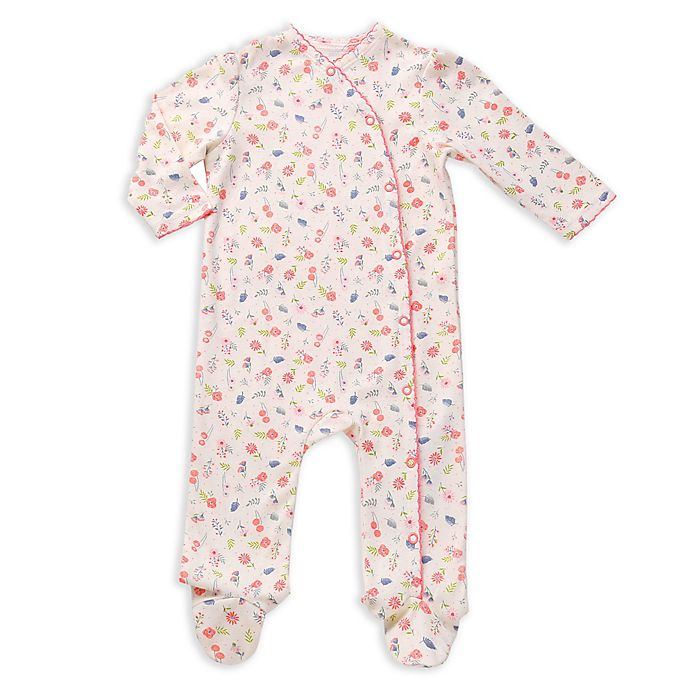Alternate image 1 for asher and olivia® 2-Piece Footed Pajama and Hat Set