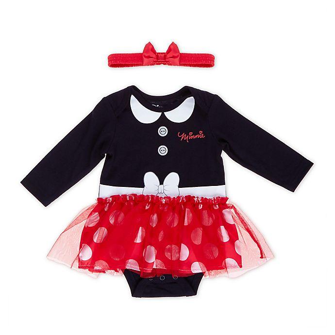 Alternate image 1 for Disney® Minnie Mouse Tutu Bodysuit in Black