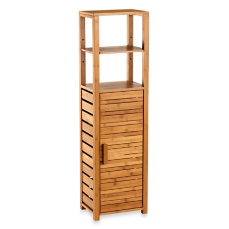 Bamboo Tall Floor Cabinet Bed Bath Amp Beyond