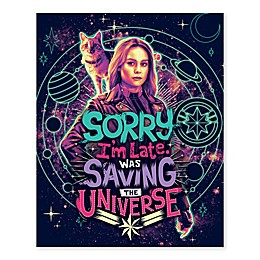 "Marvel® Captain Marvel ""Saving the Universe"" 16-Inch x 20-Inch Canvas Wall Art"