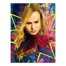 Marvel® Captain Marvel Color Burst 18-Inch x 24-Inch Canvas Wall Art