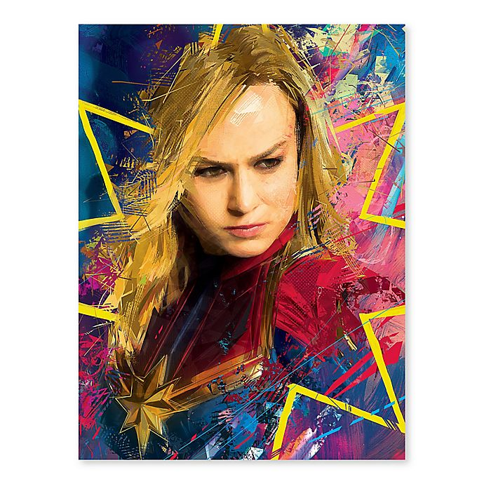 Alternate image 1 for Marvel® Captain Marvel Color Burst 18-Inch x 24-Inch Canvas Wall Art