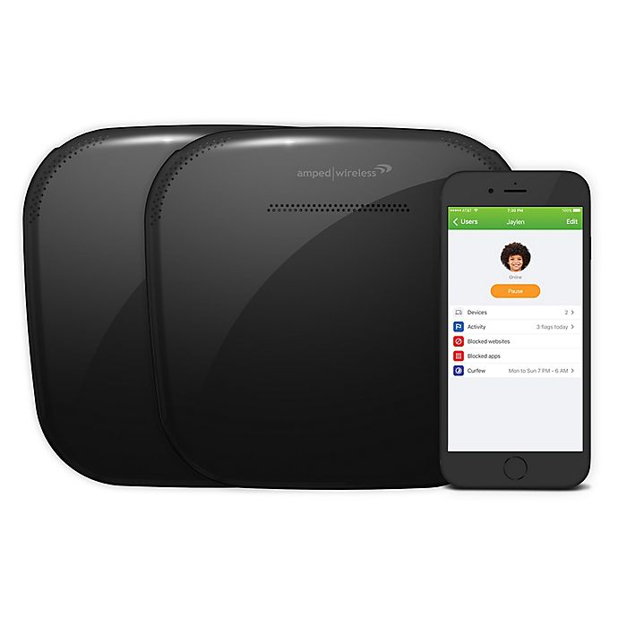 Alternate image 1 for Amped Wireless ALLY Whole Home 6-Piece Smart Wi-Fi System in Black