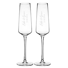 Cathy's Concepts Mr. & Mr. Wedding Estate Champagne Glasses (Set of 2)