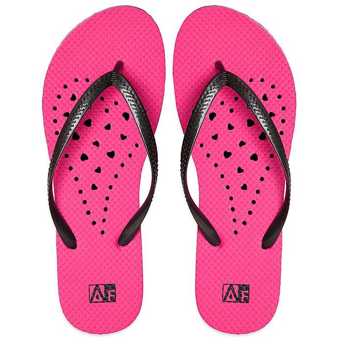 Alternate image 1 for Women's Heart AquaFlops Shower Shoes in Pink