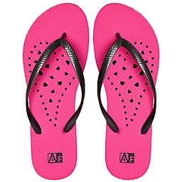 Women's Heart AquaFlops Shower Shoes in Pink