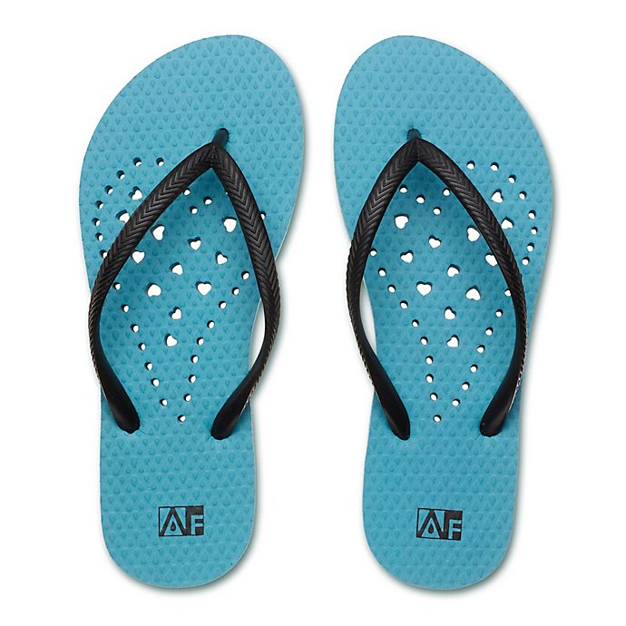 Alternate image 1 for Women's Heart AquaFlops Shower Shoes in Aqua