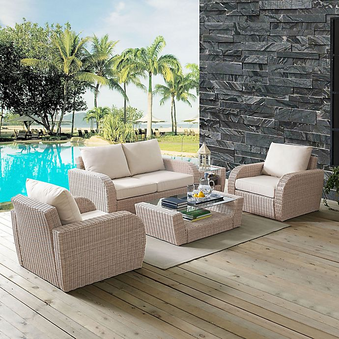 Awe Inspiring Crosley St Augustine Resin Wicker Patio Furniture Lamtechconsult Wood Chair Design Ideas Lamtechconsultcom