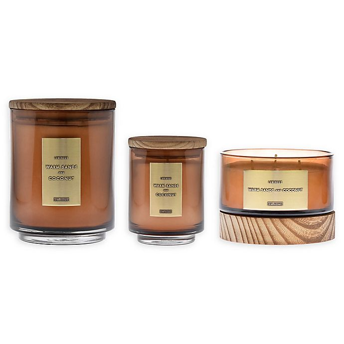 Alternate image 1 for DW Home Warm Sands and Coconut Jar Candle with Wood Lid
