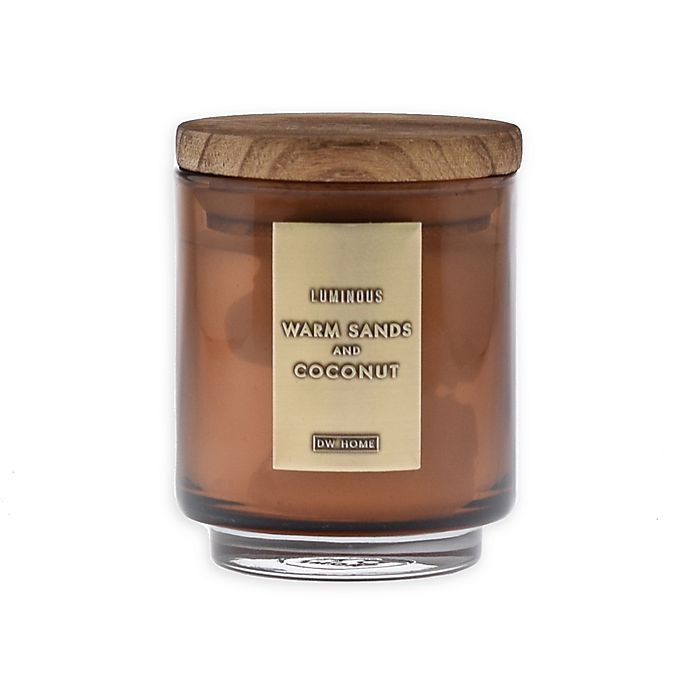 Alternate image 1 for DW Home Warm Sands and Coconut 4 oz. Jar Candle with Wood Lid