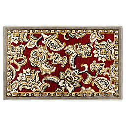 Home Dynamix Maplewood 1'7 x 2'7 Washable Accent Rug in Red