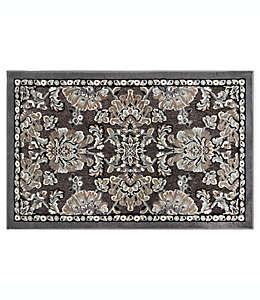 Home Dynamix Maplewood Tapete decorativo con diseño floral de 93.98 cm x 1.39 m en gris