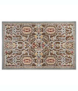 Tapete decorativo de chenilla Home Dynamix Maplewood con diseño floral, 93.98 cm x 1.39 m color café pardo