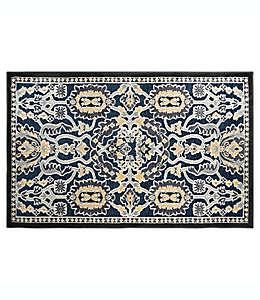 Tapete decorativo de chenilla Home Dynamix Maplewood con diseño floral, 93.98 cm x 1.39 m color azul marino