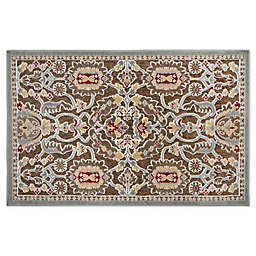 Home Dynamix Maplewood 2-Foot 3-Inch x 3-Foot 7-Inch Washable Accent Rug in Taupe