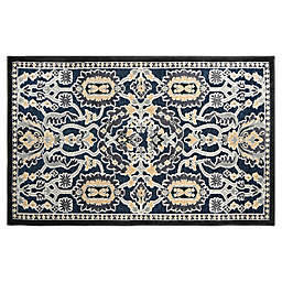 Home Dynamix Maplewood 2-Foot 3-Inch x 3-Foot 7-Inch Washable Accent Rug in Navy