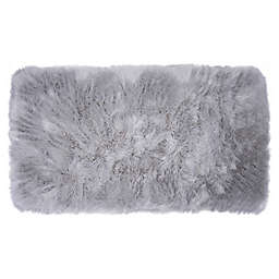 Home Dynamix Aspen Faux Fur 2-Foot 6-Inch x 3-Foot 11-Inch Accent Rug in Grey