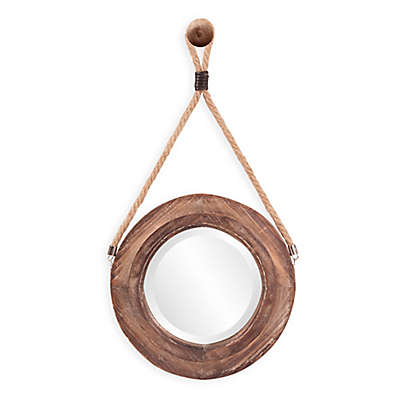 Howard Elliott® Oliver 14-Inch Round Wall Mirror in Walnut