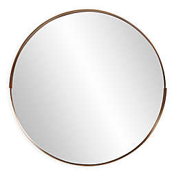 Howard Elliott® Intrepid 20-Inch Round Mirror in Brass