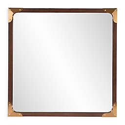 Howard Elliott® Rogers 36-Inch Square Mirror in Walnut
