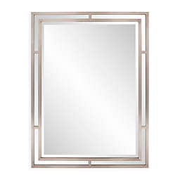 Howard Elliott® Trenton 36-Inch x 48-Inch Rectangular Mirror in Nickel