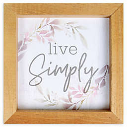 """Live Simply"" 7-Inch Square Framed Wall Art"
