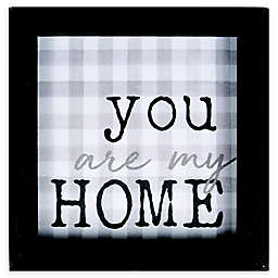 """You Are My Home"" 7-Inch Square Framed Wall Art"